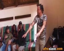 Hardcore interracial orgy with african sluts on the party