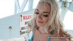 hardcore, public, blonde, teen, beach, bikini