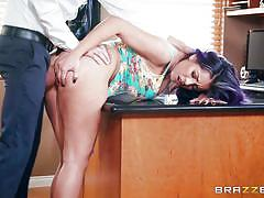 Sex addict latina gets ass smashed by her therapist