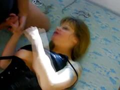 Hot milf with huge tits gets tied up and brutally fucked in pussy and ass