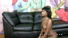 Zamora is ready for white cock gagging clip