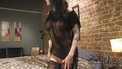 Dude cummed during anal sex with tranny