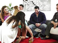 Hardcore group sex in the living room @ neighborhood swingers #19
