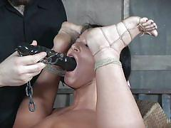 babe, slave, domination, flexible, hogtied, dildo, suspended, mouth gagged, anal hook, rope bondage, hard tied, london river
