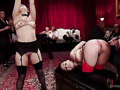 Flogged and exposed at decadent bdsm party