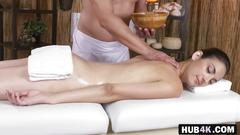 babe, brunette, massage, blowjob, fucking
