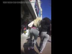 Love gray sweats with jiggles & flaps candid latina booty