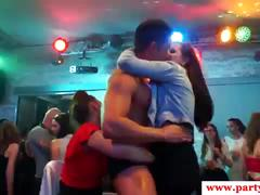 Real party euro feasting on strippers at orgy