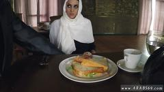 Real muslim hungry woman gets food and fuck