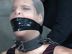 Syren is collared and humiliated in the dungeon