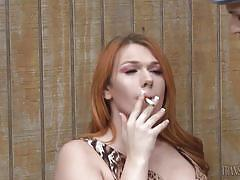 Hot transexual babes share sweet kisses and caresses