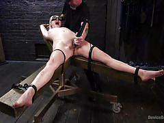 orgasm, blonde, bondage, bdsm, babe, torture, bound, vibrator, blindfold, flogging, device bondage, kink, the pope, cadence lux