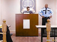 Judge fucks his hot latina wife in court