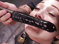 Blonde sub cums while getting nipple torture