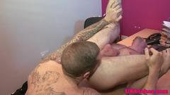 Anally fucked stud banged by uk jock