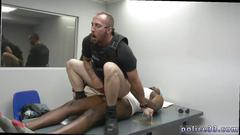 Interracial gay sex session with some super horny gay cops