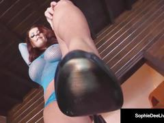 Superbly shaped sophie dee makes you her fuck pig! beg now!