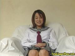 Japanese teen doggystyled in cfnm action