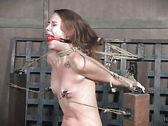 Zoey laine is tied and gagged in hardcore bdsm session