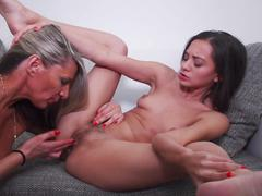 Lesbian taboo sex fantasy with mom n daughter