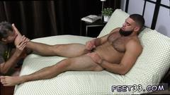 Gay emo foot fetishes and chubby boy fucked legs up first time ricky larkin shoots his