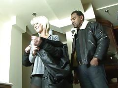 Mature blonde wife cheating husband with black man cock