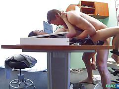 Patient in lingerie gets fucked by the doctor