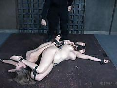 Subs asses and throats fucked in human centipede