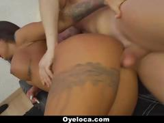 Teamskeet- sexy latin babe seduces white cock