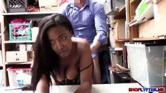 Hot ebony thief daya deserves a hardcore sex