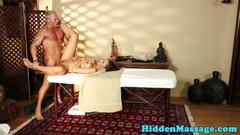 Massage beauty screwed missionary style
