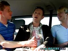 These gay hunks are ready for freaky fun in the car
