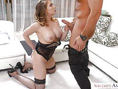 Busty milf in lingerie taken by the bull