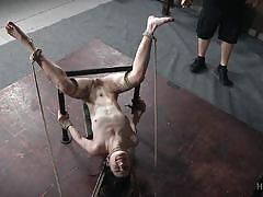 Tied and spread by the mean and cruel master
