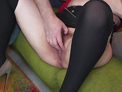 Mature vixen sucks lucky guy's dick