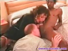 Cuckold sissy secret - sucking bbc bull off