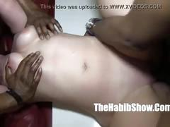 White pawg bitch getting gangbanged by bbc rome major and don prince