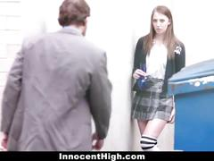 cumshot, hardcore, brunette, doggystyle, shaved, schoolgirl, uniform, teacher, school, student, smalltits, bigcock, college, classroom, chloe, scott, coed, innocenthigh, professor, teamskeet