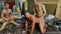 Naked army male gay fight club