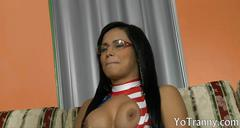 Sultry shemale gets her ass ripped hard by pervert man