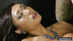 Stunning big boobs tranny venus lux fucks nasty tattooed man