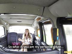 British milf pays a month of taxi rides with her throat