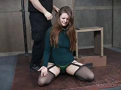 threesome, bdsm, babe, mistress, slave, dildo, brunette, tied up, device bondage, real time bondage, nora riley