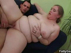 Hot sex with a lusty bbw