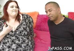 Big boobed redhead fatty wants some good loving