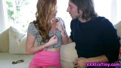 Oral sex session with a redhead slut
