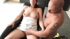 Amateur milf babe gets rammed by her well hung lover