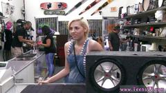 Blonde teen is ready for hot sex in the pawnshop
