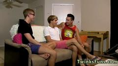 Cute twinks are ready for deepthroat fun in this hot session
