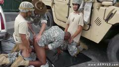 Blowing the dudes and the sex among soldiers rocks
